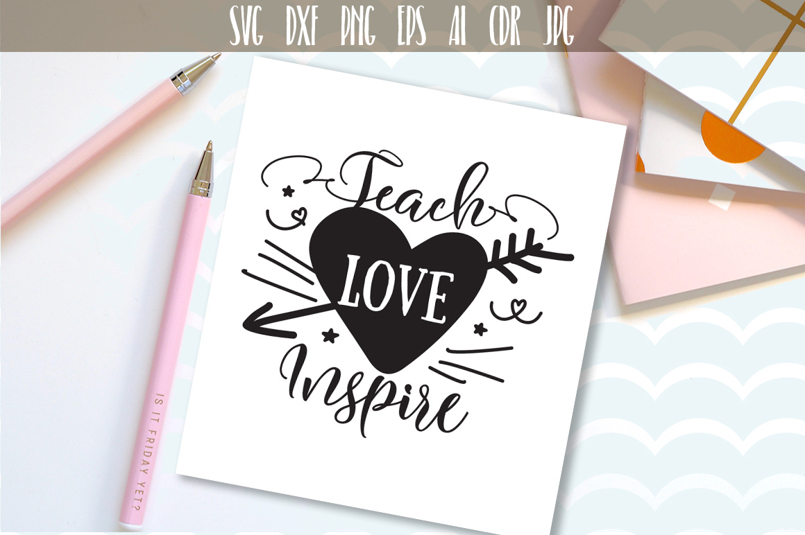 Download Free Teach Love Inspire Svg Graphic By Vector City Skyline Creative for Cricut Explore, Silhouette and other cutting machines.