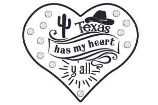 Texas Has My Heart, Y'all Craft Design By Creative Fabrica Crafts