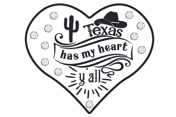 Download Free Texas Has My Heart Y All Svg Cut File By Creative Fabrica for Cricut Explore, Silhouette and other cutting machines.
