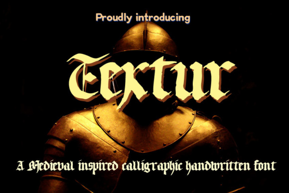 Print on Demand: Textur Blackletter Font By Markus Schroppel