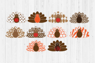 Download Free Thanksgiving Turkey Cut Files Graphic By Cutperfectstudio for Cricut Explore, Silhouette and other cutting machines.