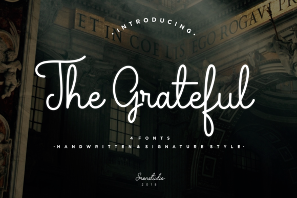 Print on Demand: The Grateful Script & Handwritten Font By Sronstudio