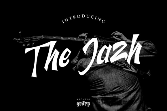 Print on Demand: The Jazh Script & Handwritten Font By Garisman Studio