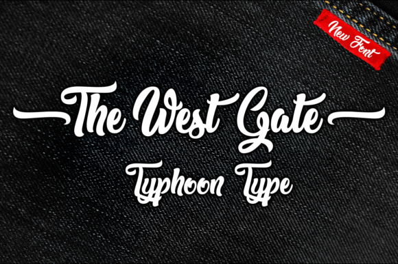 Print on Demand: The West Gate Script & Handwritten Font By Typhoon Type - Suthi Srisopha