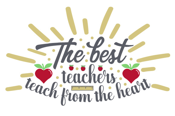 Download Free The Best Teachers Teach From The Heart Svg Cut File By Creative for Cricut Explore, Silhouette and other cutting machines.