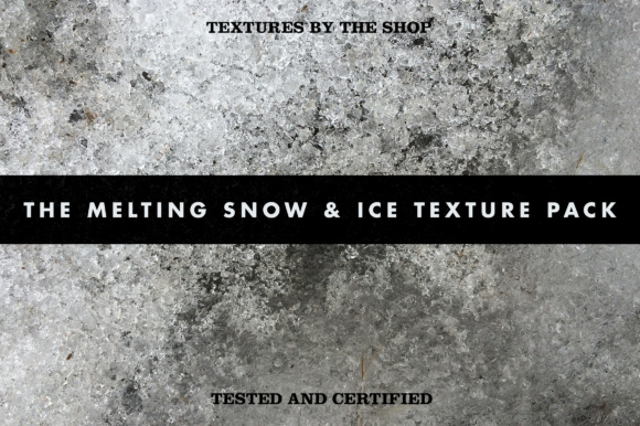 The Melting Snow & Ice Texture Pack Graphic Textures By theshopdesignstudio