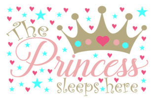 The Princess Sleeps Here Home Craft Cut File By Creative Fabrica Crafts