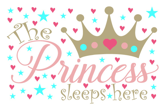 Download Free The Princess Sleeps Here Svg Cut File By Creative Fabrica Crafts for Cricut Explore, Silhouette and other cutting machines.