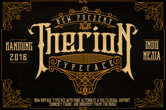 Therion Display Font By Ndroadv