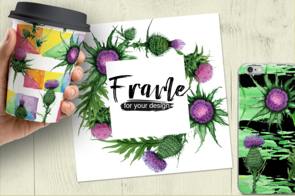 Print on Demand: Thistle Flowers PNG Watercolor Set Graphic Illustrations By MyStocks - Image 3