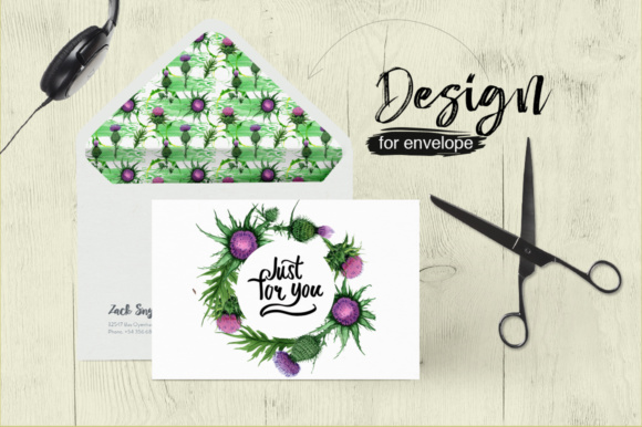 Print on Demand: Thistle Flowers PNG Watercolor Set Graphic Illustrations By MyStocks - Image 4