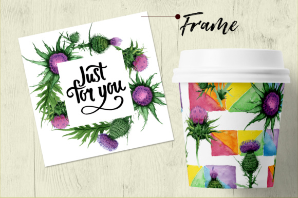 Print on Demand: Thistle Flowers PNG Watercolor Set Graphic Illustrations By MyStocks - Image 6