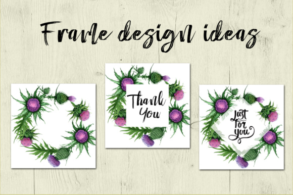 Print on Demand: Thistle Flowers PNG Watercolor Set Graphic Illustrations By MyStocks - Image 7