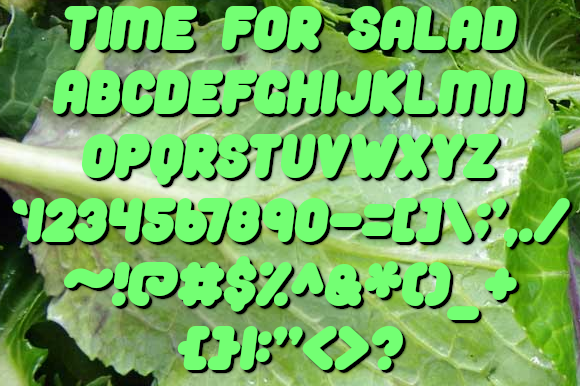 Print on Demand: Time for Salad Sans Serif Font By jeffbensch