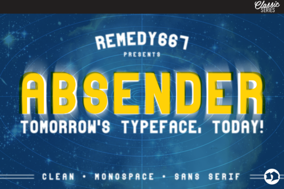 Print on Demand: Absender Sans Serif Font By remedy667
