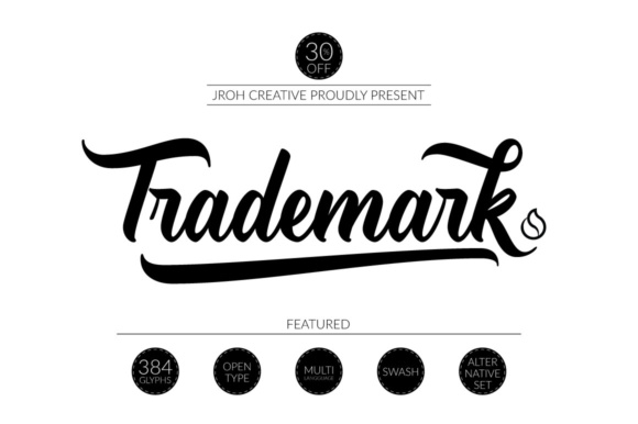 Trademark Font By JROH Creative Image 1