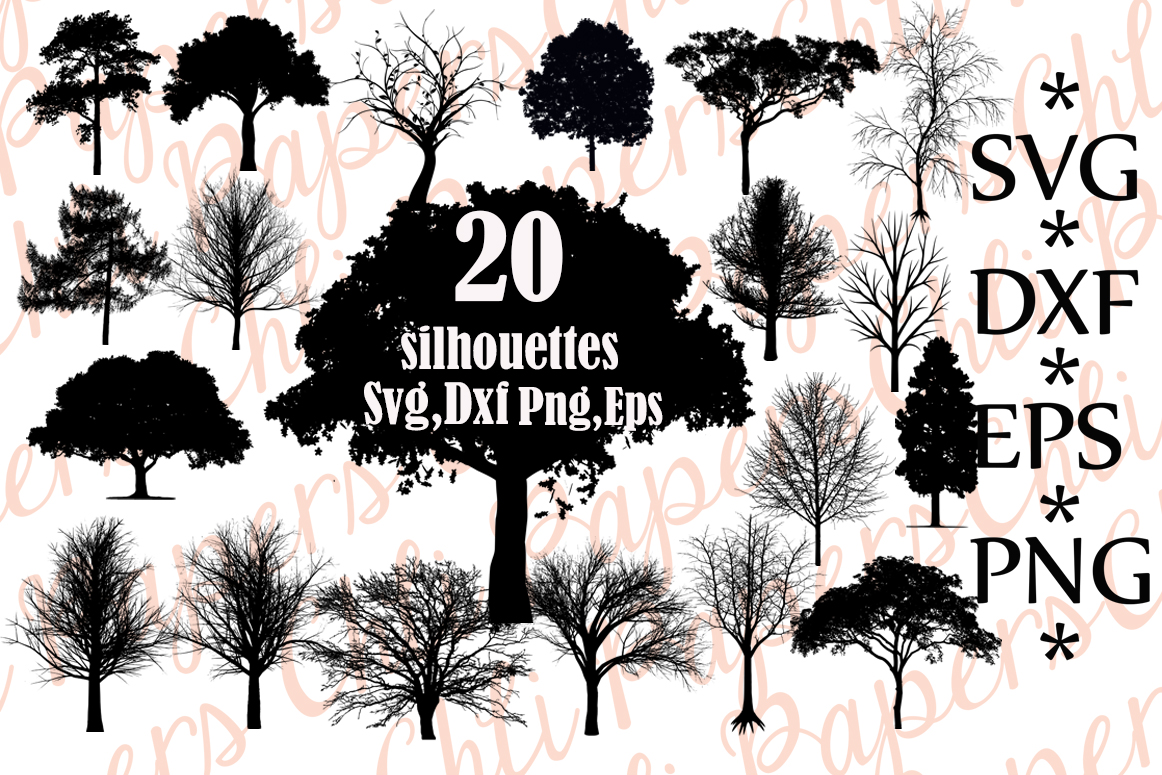 Download Free Tree Illustrations Graphic By Chilipapers Creative Fabrica SVG Cut Files