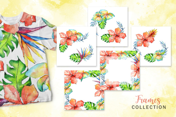 Tropical Plant PNG Watercolor Set Graphic By MyStocks Image 2