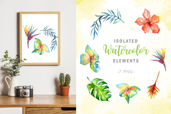 Tropical Plant PNG Watercolor Set Graphic By MyStocks Image 7