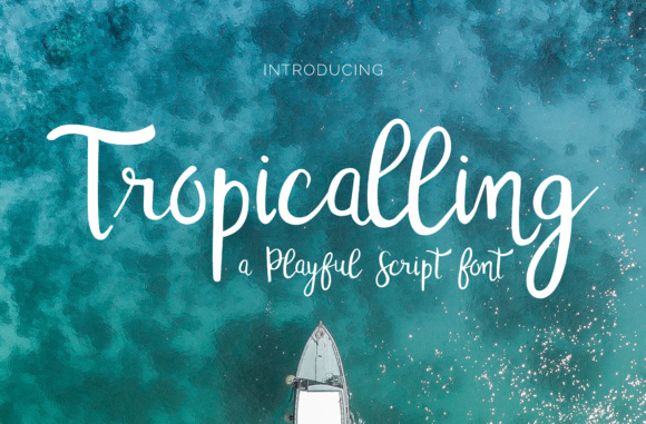 Tropicalling Font By Christine Teixeira Image 1