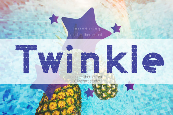 Print on Demand: Twinkle Display Font By 38.lineart