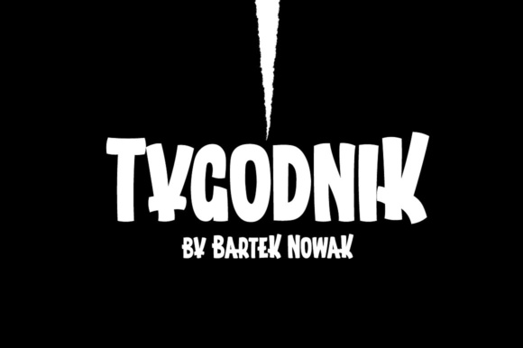 Print on Demand: Tygodnik Display Font By grin3