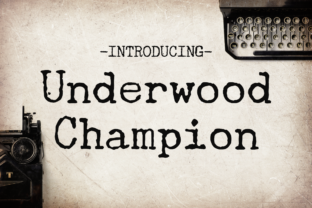 Underwood Champion Font By Creative Fabrica Freebies