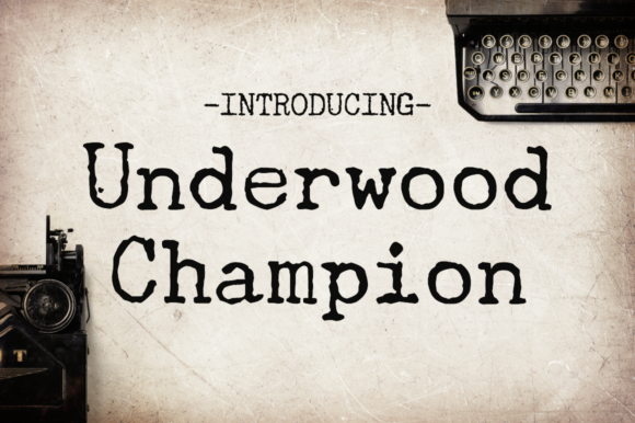 Print on Demand: Underwood Champion Display Font By Creative Fabrica Freebies