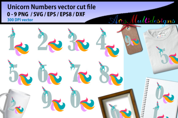 Print on Demand: Unicorn Numbers Graphic Illustrations By Arcs Multidesigns - Image 2