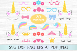 Download Free Unicorn Kit Graphic By Magicartlab Creative Fabrica for Cricut Explore, Silhouette and other cutting machines.