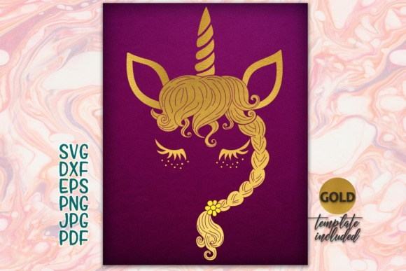 Download Free Unicorn Face Unicorn Head Cute Unicorn Unicorn Iron On Unicorn for Cricut Explore, Silhouette and other cutting machines.