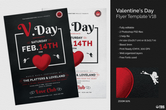 Download Free Valentines Day Flyer Template Graphic By Thatsdesignstore SVG Cut Files