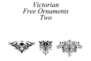 Victorian Ornaments Font By Intellecta Design