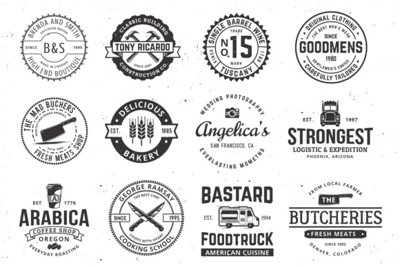 Print on Demand: Vintage Logo Templates Graphic Logos By great19 - Image 4
