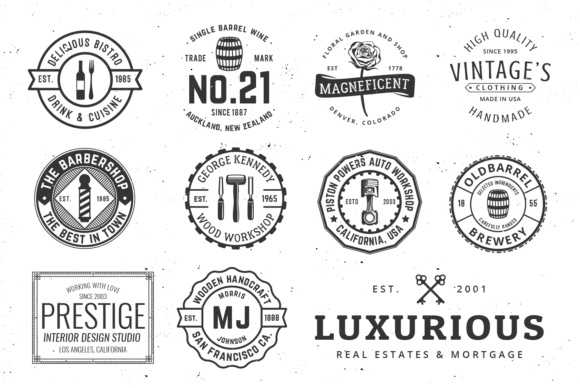 Print on Demand: Vintage Logo Templates Graphic Logos By great19 - Image 5