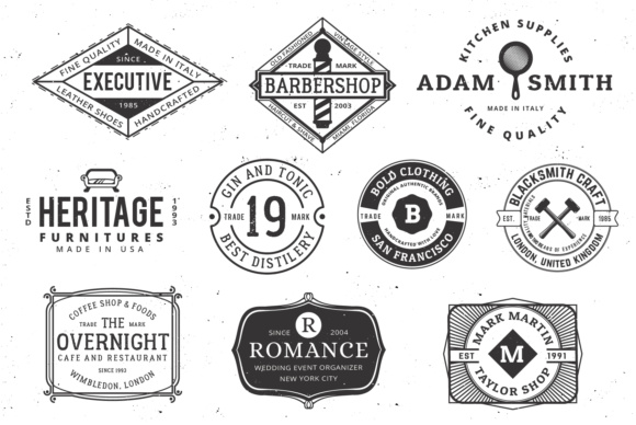 Print on Demand: Vintage Logo Templates Graphic Logos By great19 - Image 6
