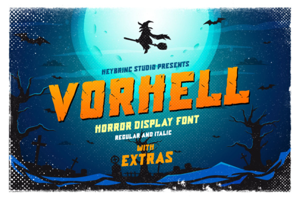 Vorhell Display Font By heybrinc.studio