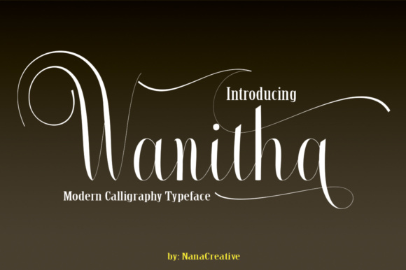 Print on Demand: Wanitha Script & Handwritten Font By desinglabs91