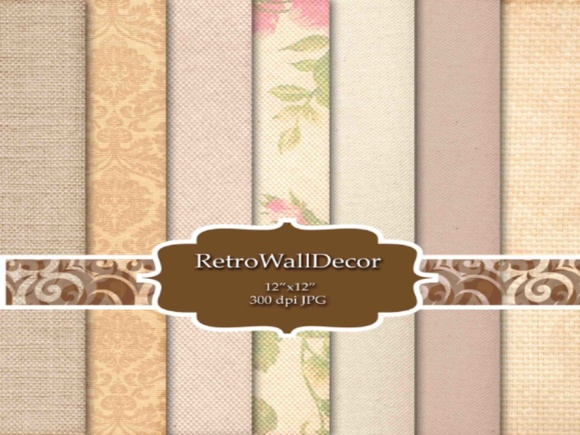Print on Demand: Warmth Digital Papers Graphic Backgrounds By retrowalldecor