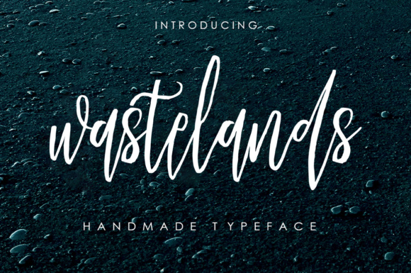 Print on Demand: Wastelands Script & Handwritten Font By Youngtype