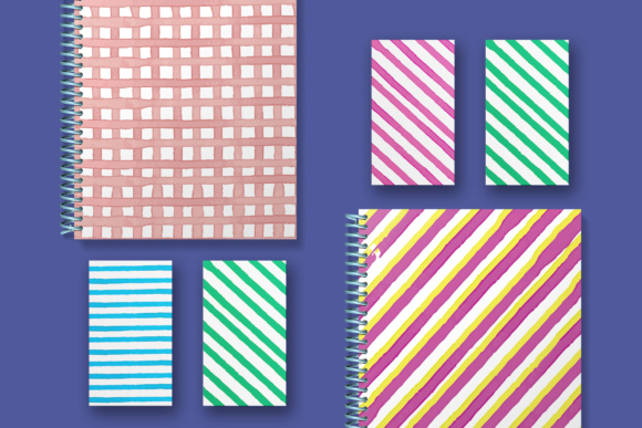 Water Color Stripes Graphic Patterns By Najla Qamber - Image 4