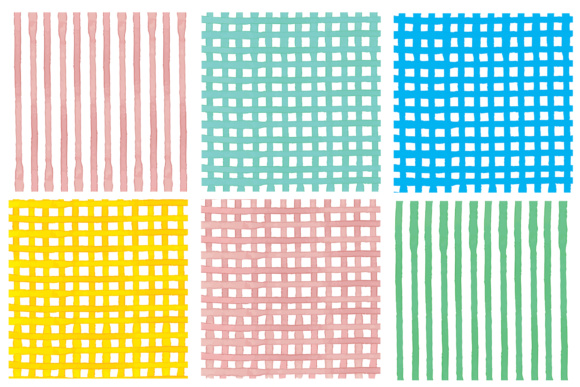 Water Color Stripes Graphic Patterns By Najla Qamber - Image 5
