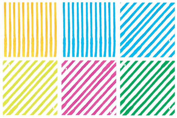 Water Color Stripes Graphic Patterns By Najla Qamber - Image 6