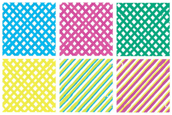 Water Color Stripes Graphic Patterns By Najla Qamber - Image 7