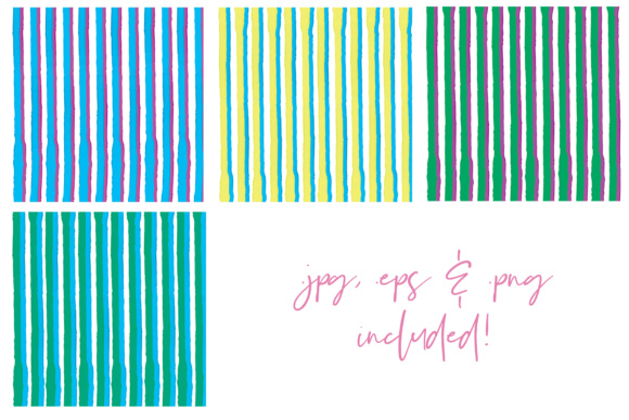 Water Color Stripes Graphic Patterns By Najla Qamber - Image 9