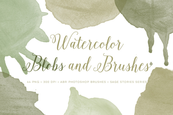 Watercolor Blob PS Brushes Bonus PNG Graphic Brushes By By Lef