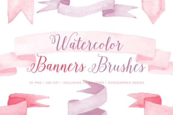 Watercolor Brushes for Photoshop - Banners Graphic Brushes By By Lef