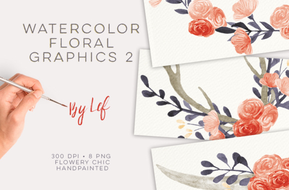 Watercolor Flower Wreaths Graphics Graphic Illustrations By By Lef