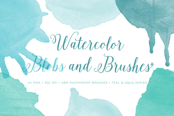 Watercolor Photoshop Brushes + PNGs Graphic Brushes By By Lef