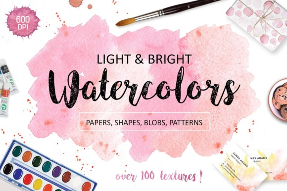 Watercolor Textures Graphic Textures By switzershop